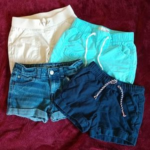 4 pair girls shorts